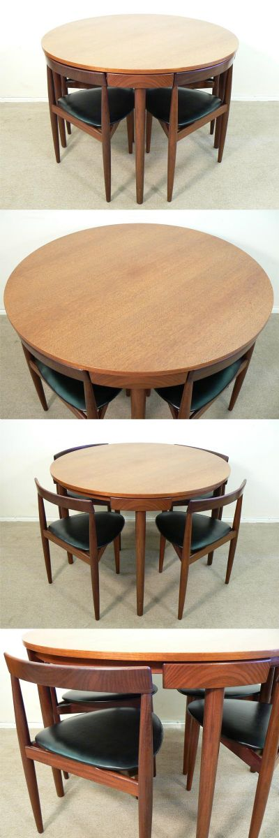 A teak table+chair set designed by Hans Olsen and manufactured by Frem Rojle. The iconic Danish set,.