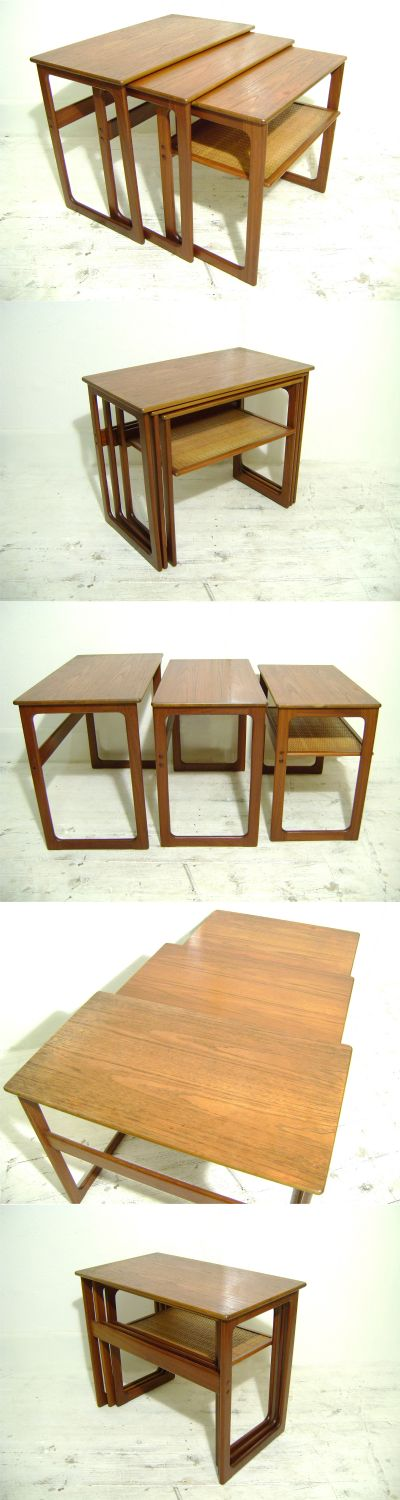 A nest of Danish tables, c1960s. Designed by Johannes Andersen for CFC Silkeberg.