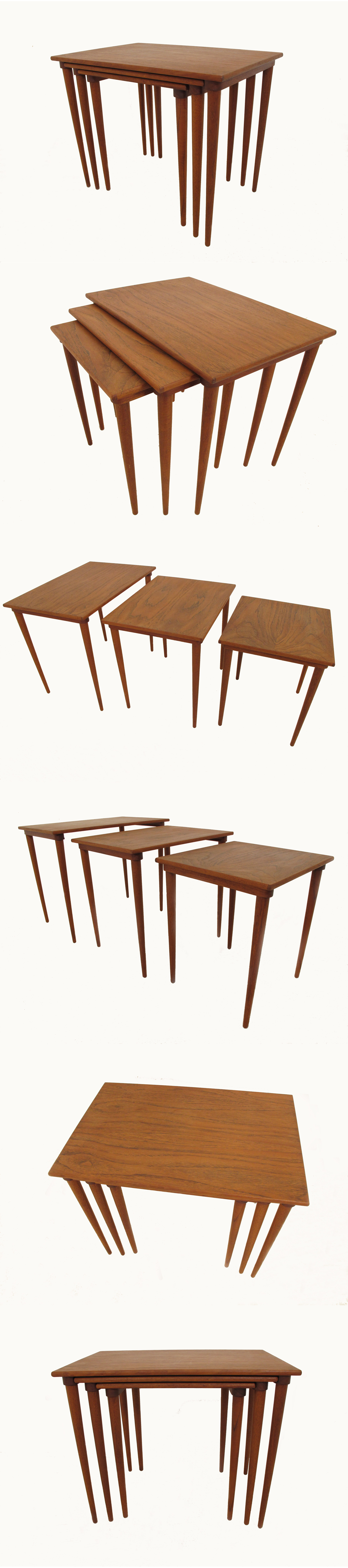 A teak nest of tables c1960s, by Bramin of Denmark.