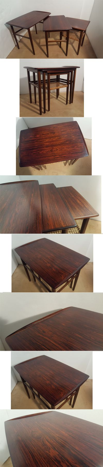 A rosewood nest of tables, Danish c1960s.